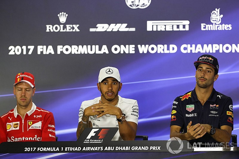 "Ricciardo: Hamilton war 2017 ""konstanter und gelassener"" als Vettel"