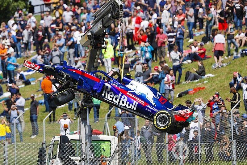 Decepcionado tras el accidente con Grosjean, Gasly lamenta su suerte