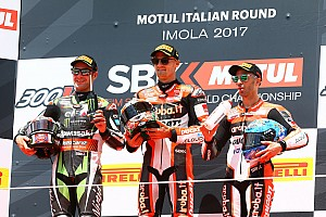 World Superbike Race report Imola WSBK: Davies wins race shortened by big Laverty crash