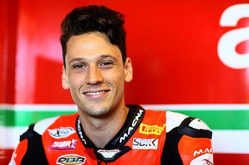 Savadori en essai avec l'Aprilia MotoGP à Misano