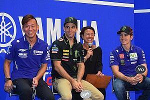 東京・KITTE 丸の内にヤマハライダーが登場。日本GPに向けて奮闘誓う