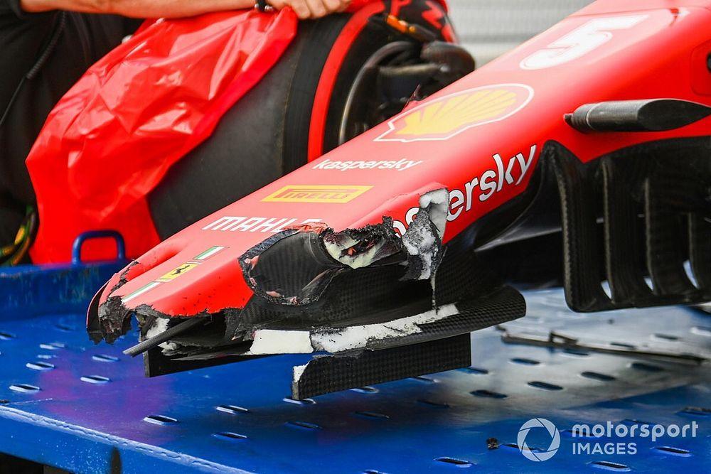 Tech: Crash van Vettel toont 'verborgen' updates Ferrari