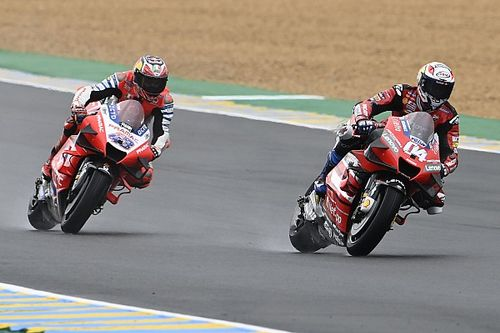 """Dovizioso """"paid"""" for wrong tyre choice in wet French GP"""