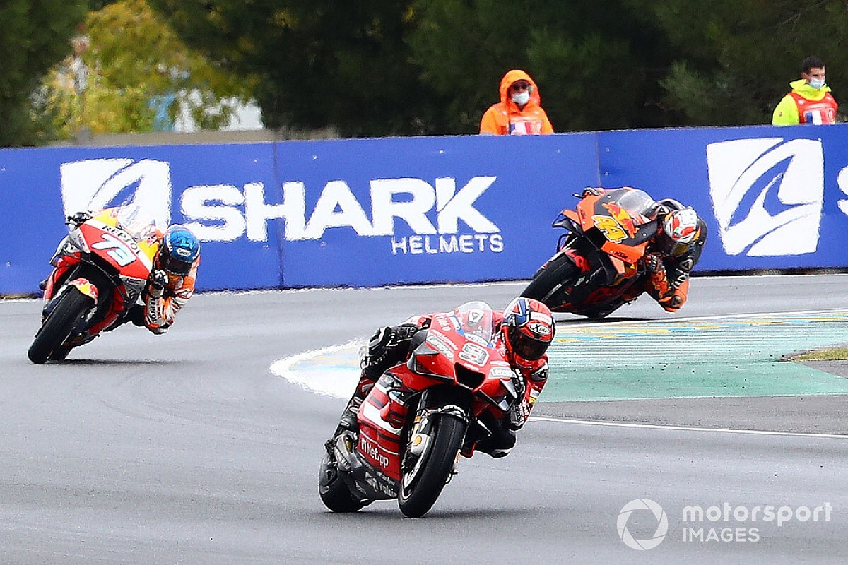 MotoGP Le Mans: Petrucci gewinnt, Rossi mit drittem Rennsturz in Folge