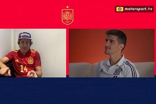 Vídeo: el test de Fernando Alonso con la selección española de fútbol
