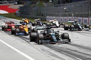 La parrilla de salida, modificada, del GP de Estiria de F1
