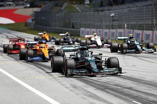 De startopstelling voor de F1 Grand Prix van Stiermarken