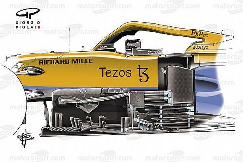 El cambio 'boomerang' en las últimas mejoras del McLaren F1