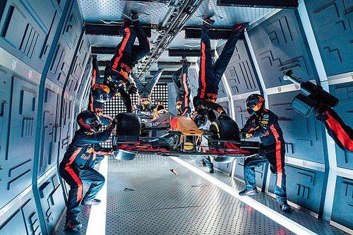 Red Bull da record: fa il primo pit stop a gravità zero!