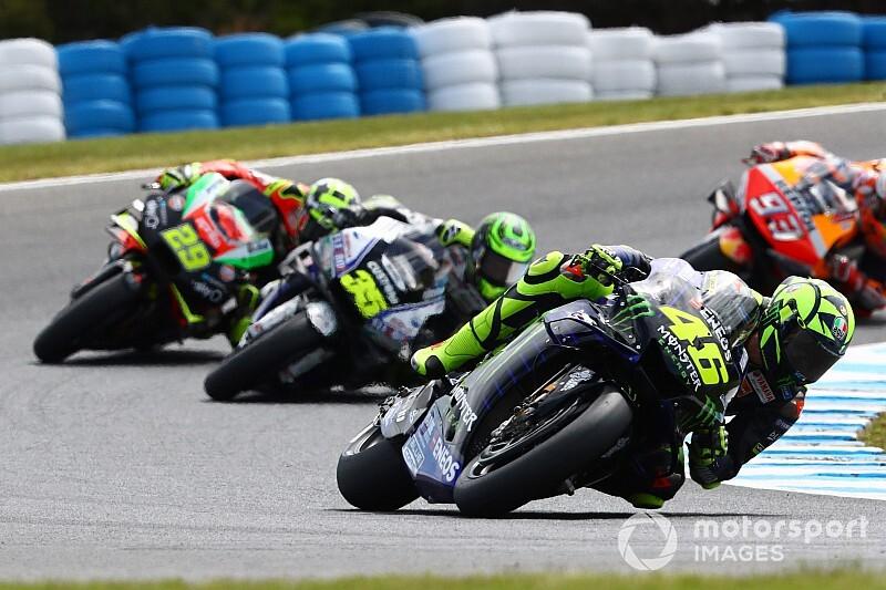 """Rossi: """"Ogni giro perdevo una posizione sul rettilineo"""""""