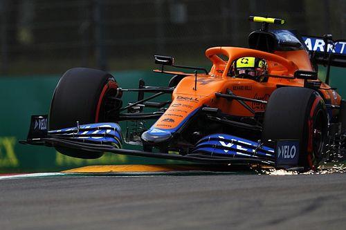 """F1: Norris admite que """"f**** tudo"""" na classificação em Ímola"""