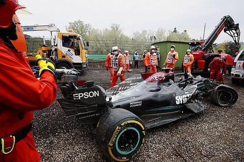 """F1: Russell diz que Bottas """"provavelmente não"""" é culpado por acidente em Ímola"""