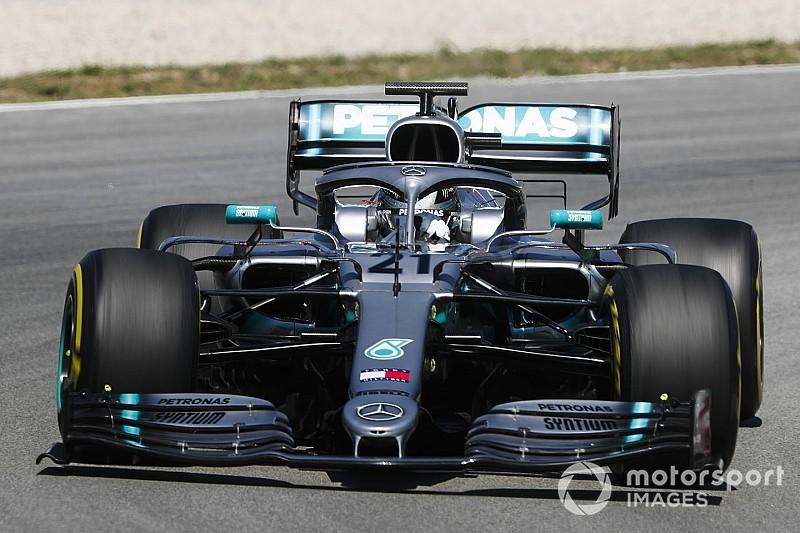 Mazepin meilleur chrono du jour à Barcelone avec Mercedes