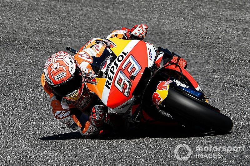 Polesitter Marquez ook aan kop in warm-up GP van Italië