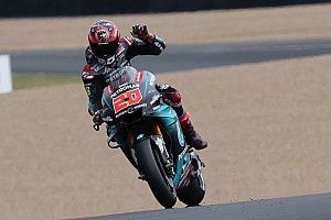 MotoGP Prancis: Quartararo kuasai warm-up, Vinales terjatuh