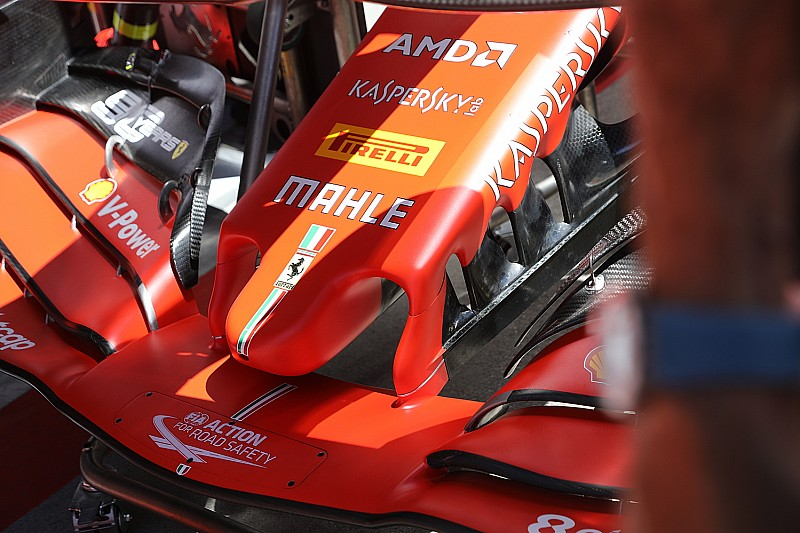 Ferrari: per sfruttare l'ala anteriore più carica appare un nuovo muso in Austria
