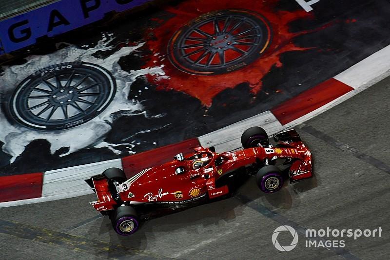 Vettel reage e lidera terceiro treino livre em Singapura