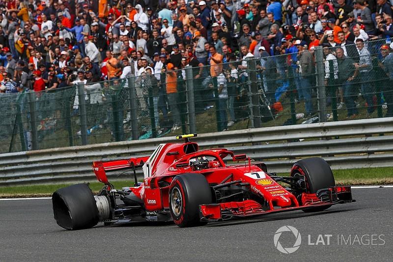 Így lett vége Räikkönen versenyének a Belga Nagydíjon (videó)