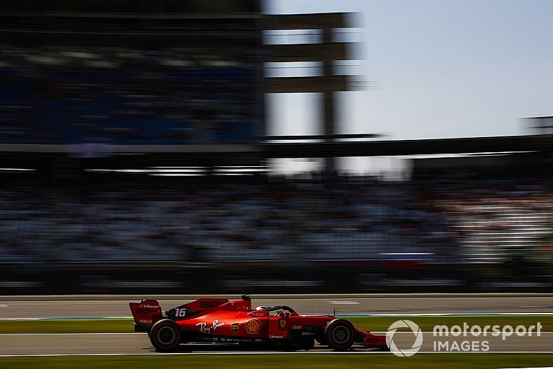 German GP: Leclerc tops FP3, Mercedes off the pace