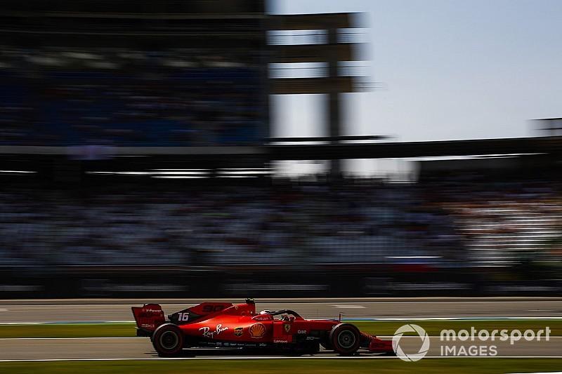 German GP: Leclerc tops FP3, Mercedes off the pace