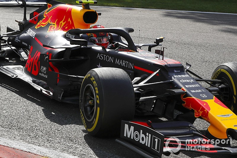Red Bull, Spa'da Fransa öncesindeki Honda motoruyla yarışmış
