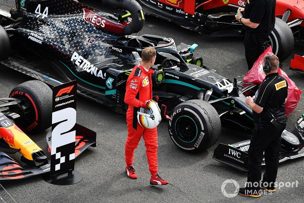 """Vettel: """"Non potevo attaccare, la macchina non lo consentiva"""""""