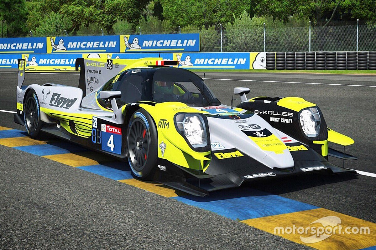 ByKolles and Porsche on pole for 24 Hours of Le Mans Virtual