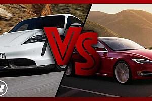Ismét összeeresztették a Tesla Model S-t és a Porsche Taycant