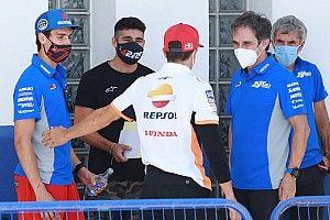 Las primeras fotos del GP de Andalucía, con Márquez y Rins