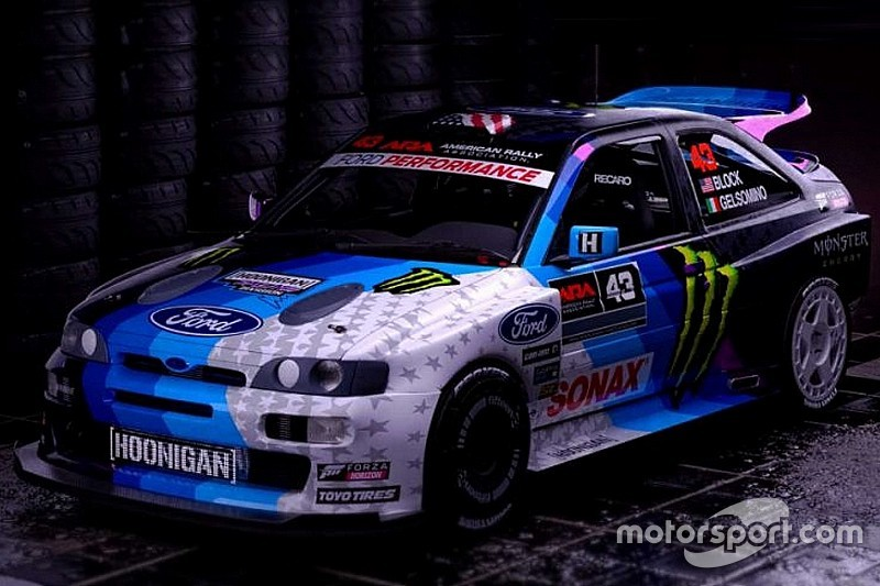 "Ken Block al Rally del Vallese con la Ford Escort ""Cossie"""