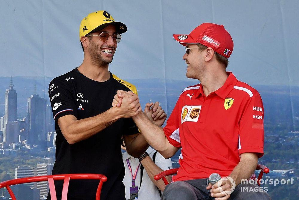 Óriási: Ricciardo nagy trollkodása Vettellel (videó)