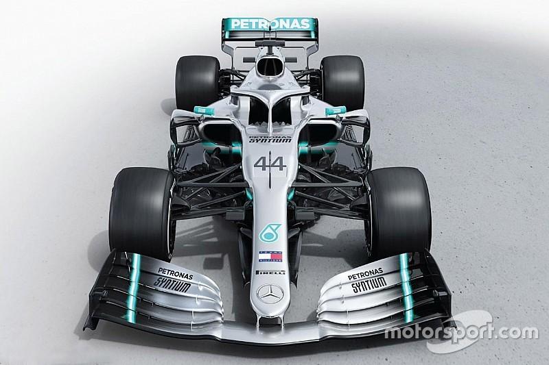 Mercedes показала новую машину Ф1. Никакого камуфляжа на ней нет