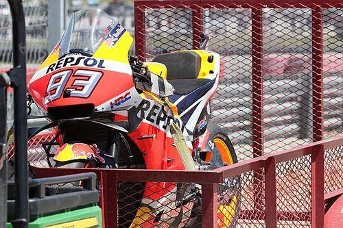 Видео: Маркес падает на Гран При Америк, лидируя в гонке