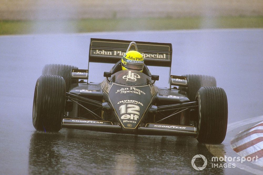 When Senna broke his F1 duck by walking on water