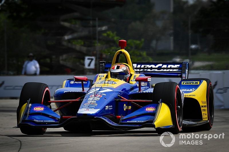 Detroit IndyCar: Rossi grabs Race 1 pole, Newgarden tops Group 1