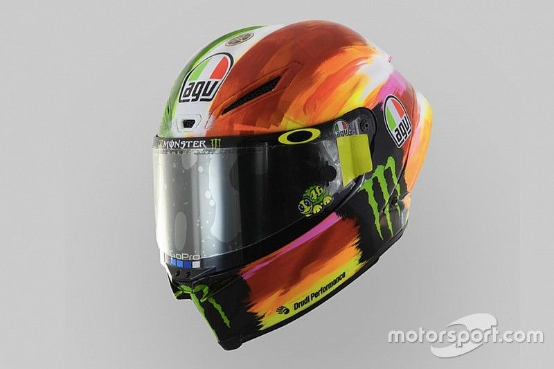 Fotostrecke: Helmdesign von Valentino Rossi in Mugello