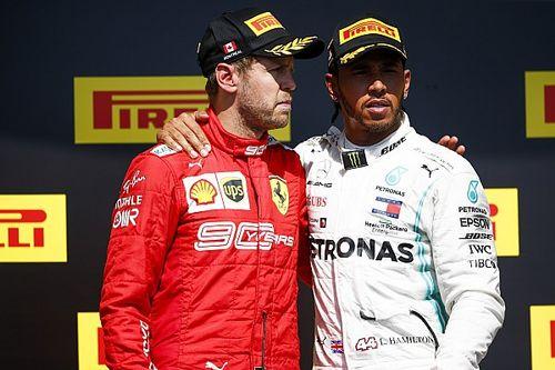 """""""Lisonjeada"""" por Hamilton, Ferrari quer avaliar """"desempenho e motivação"""" de Vettel"""