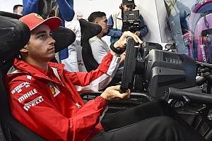 Леклер расплакался после победы в виртуальном Гран При. Но очень тихо