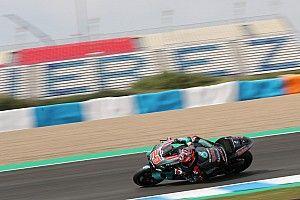 Quartararo se desquita del abandono en Jerez liderando el test