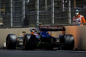 "Norris escaped ""big hit"" during closing stages in Baku"