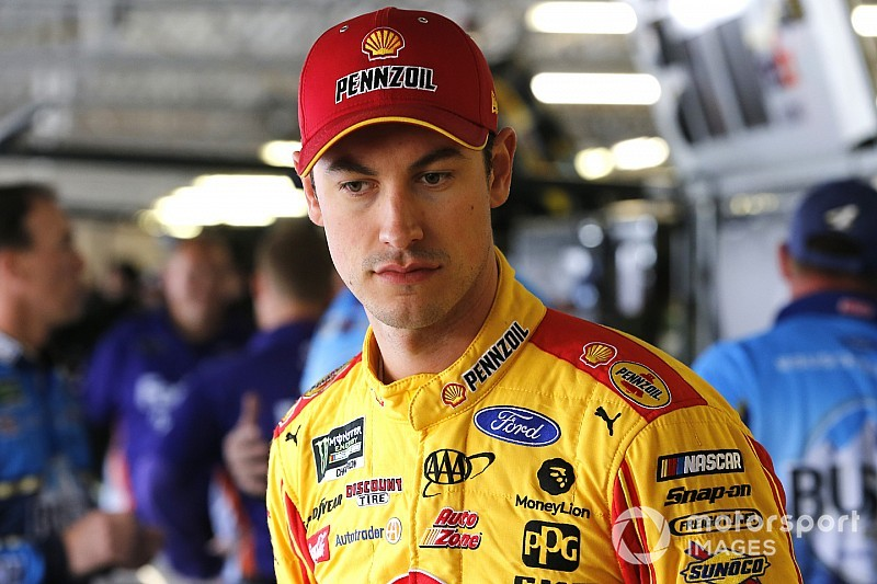 "Joey Logano: ""I couldn't block them all"" on final restart"