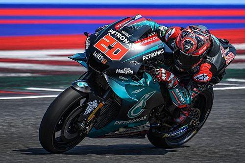 Quartararo lidera en Misano y Márquez se cae pero acaba 3º