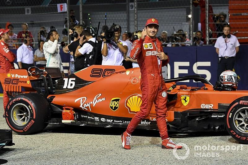Képekben Leclerc újabb időmérős győzelme a Ferrarival