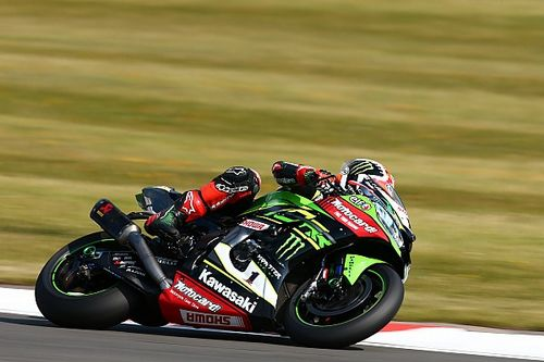 Donington WSBK: Rea beats Razgatlioglu for hat-trick of wins