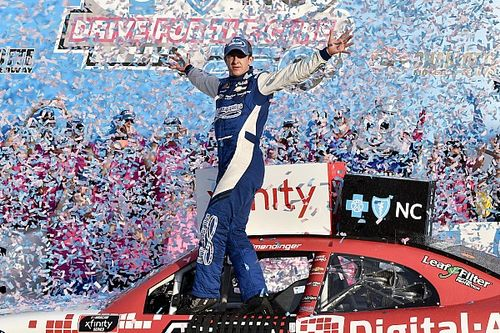 Allmendinger wins wild Xfinity Series race at Charlotte Roval