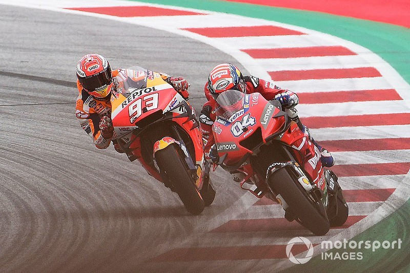 Dovizioso verslaat Marquez in absolute thriller op Red Bull Ring