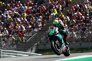 Red Bull Ring MotoGP: Morbidelli leads Rossi in wet warm-up