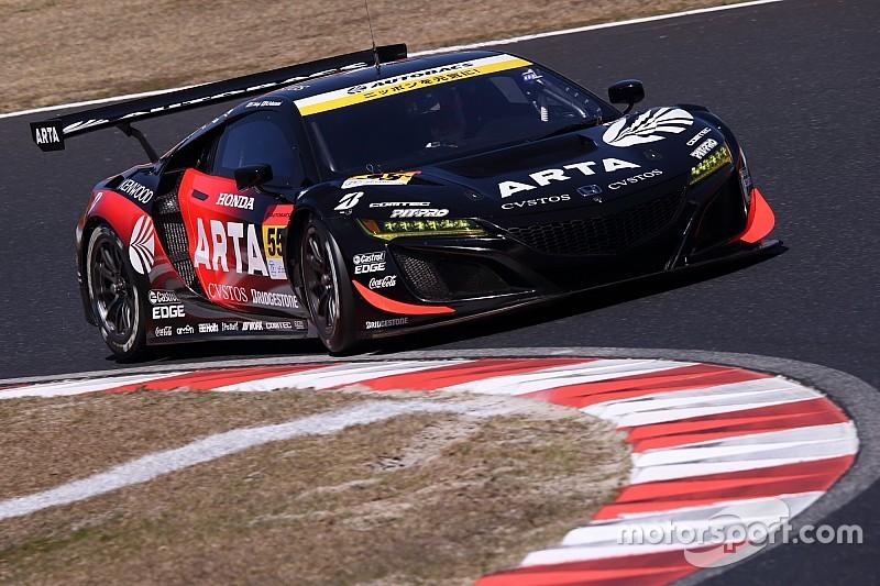 第1戦岡山|GT300クラスはBSタイヤ勢がトップ4独占、ARTA NSX GT3がポール獲得
