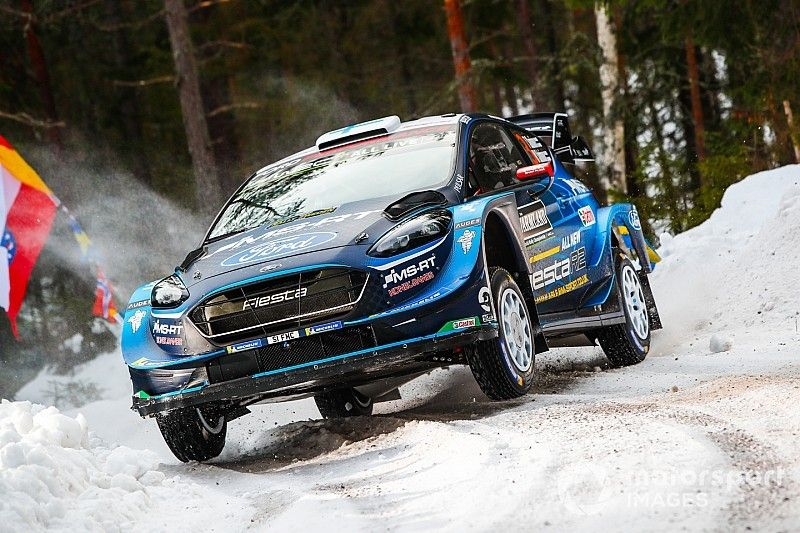 WRC Zweden: Suninen aan de leiding in Zweden, Ogier out