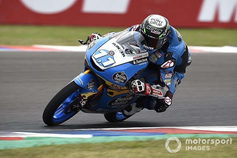 Sergio García se pierde su primera carrera por una fuerte caída en el warm up